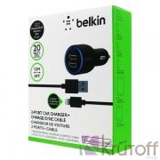 Набор АЗУ 2Usb 4.2А+ кабель iPhone 5BELKIN