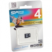 MicroSD 4GB Silicon Class 10 без адаптера