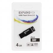 Флеш-накопитель USB  4GB  Exployd  560  чёрный