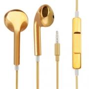 гарнитура для iPhone (айфон ) хром золотой