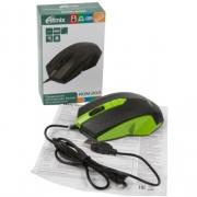 Мышь проводная  RITMIX ROM-202, зеленая