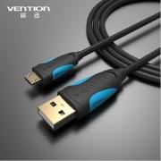 кабель USB-micro , 1.5 м . провод лапша VENTION (чёрный)