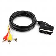 audio видео кабель SCART-3 RCA  1м.