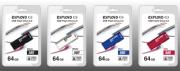 Флеш-накопитель USB  64GB  Exployd  580  белый