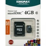 Карта памяти microSD + адаптер Kingmax 4GB