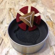 Spinner ( Спиннер ) антистресс металлический 009957 красный