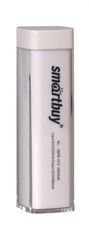Резервная батарея ЗУ SMARTBUY EZ-BAT, 2000 мАч, белый, глянцевый пластик.