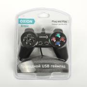 Геймпад OXION OGP01, plug and play. USB 2.0. Проводной