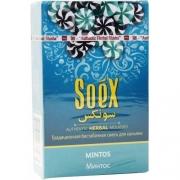 Безникотиновая смесь для кальяна Soex Минтос 50гр (10шт в блк)