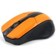 Мышь беспроводная  MIREX W3009ORN черная/оранжевая