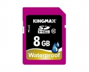 карта памяти  Kingmax SDHC 8Gb Class 10 Waterproof