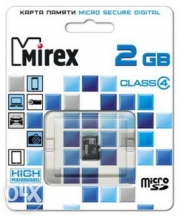 карта памяти microsd 2 gb mirex class 4 без адаптера