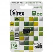 карта памяти Mirex MicroSDHC 8GB Class 10 без адаптера