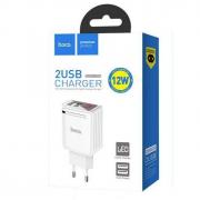 Блок питания сетевой 2 USB HOCO, C39A