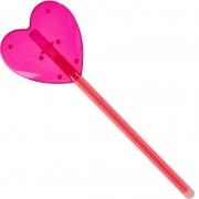 Светящая полочка  сердце розовая