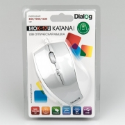 Мышь проводная DIALOG Katana Optical MOK-17U, белая