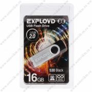 Флеш-накопитель USB 16 gb Exployd 530 чёрный