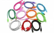 кабель usb micro цветная лапша