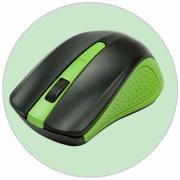Мышь беспроводная RITMIX RMW-555, чёрный зеленый USB-Dongle