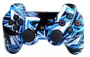 джойстик для Sony PLAYSTATION 3 (сони плейстейшн 3)  Dualshock 3 Граффити Синий