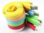кабель на micro разноцветная лапша