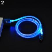 кабель на Micro (в оплетке ) BORDELON  светящийся
