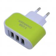 СЗУ адаптер 3 USB 3.1A зеленый