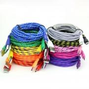 кабель   IPHONE micro ткань цветная