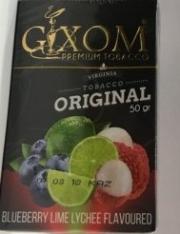 табак для кальяна Gixom ( гиксом ) Blueberry Lime Lychee flavoured  (Черника Лайм Личи) 50 ГР.