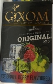 табак для кальяна Gixom ( гиксом ) Ice Grape Berry flavoured   (Лед Виноград Ягоды)  50 ГР.