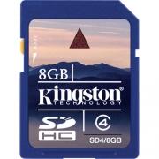 карта памяти  Kingston SDHC 8gb class 4