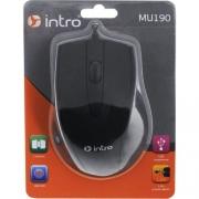 Мышь  проводная  INTRO MU190, черная