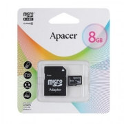 Micro sd карта 8 gb Apacer class 10 с адаптером