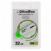 Флеш-накопитель USB  32GB  OltraMax  250  зелёный