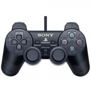 джойстик для Sony PLAYSTATION 2 (сони плейстейшн 2)  Dualshock 2 черный (без упаковки)