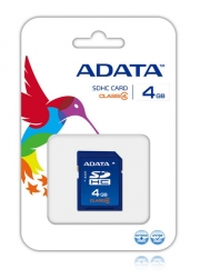 карта памяти  ADATA SD SDHC 4GB Class 4