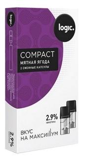 Капсулы Logic Compact Мятная Ягода (1.6 мл)