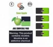 Картриджи для электронных сигарет JUUL - Eonsmoke Sour Apple 6%