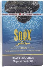 Безникотиновая смесь для кальяна Soex Черная лакрица  50гр (10шт в блк)