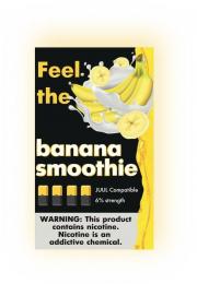 КАРТРИДЖИ FEEL the banana smothie ПОДХОДИТ ДЛЯ JUUL (4 ШТ) 6% 0.7 мл