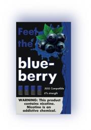 КАРТРИДЖИ FEEL the blueberry ПОДХОДИТ ДЛЯ JUUL (4 ШТ) 6% 0.7 мл