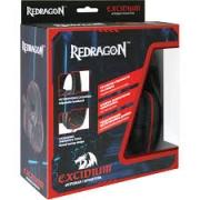Гарнитура REDRAGON Placet красный/черный, кабель 2,2 м. Тип подключения: проводной.