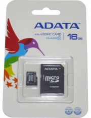 карта памяти microsd 16gb A-DATA Class 10 + SD адаптер