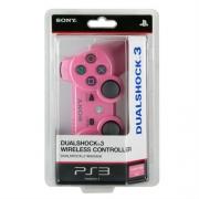 джойстик для Sony PLAYSTATION 3 (сони плейстейшн 3)  Dualshock 3 не оригинал розовый