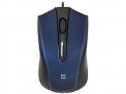 Мышь проводная DEFENDER  Accura MM-950, синий