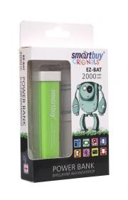 Резервная батарея ЗУ SMARTBUY EZ-BAT, 2000 мАч, зелёный, глянцевый пластик.
