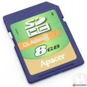 карта памяти  APACER SDHC 8 gb class 6