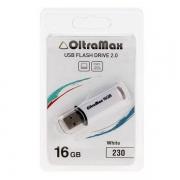 Флеш-накопитель USB 16 gb OltraMax 230 белый