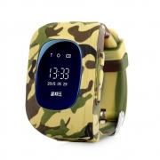 умные детские часы  Q50 ( смарт часы, smart watch Q50 ) с треком, GPS камуфляж