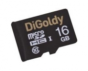 Карта памяти MicroSD  16GB  DiGoldy Class 10 без адаптера